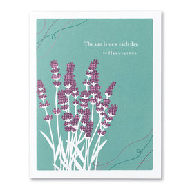 Compendium Get Well Card - The Sun is New Each Day