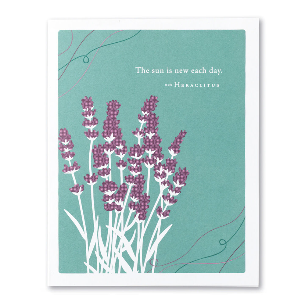 Get Well Card - The Sun is New Each Day