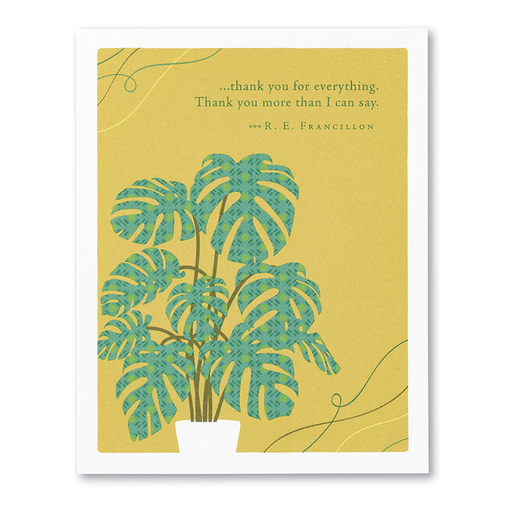 Thank You Card - Thank you for everything