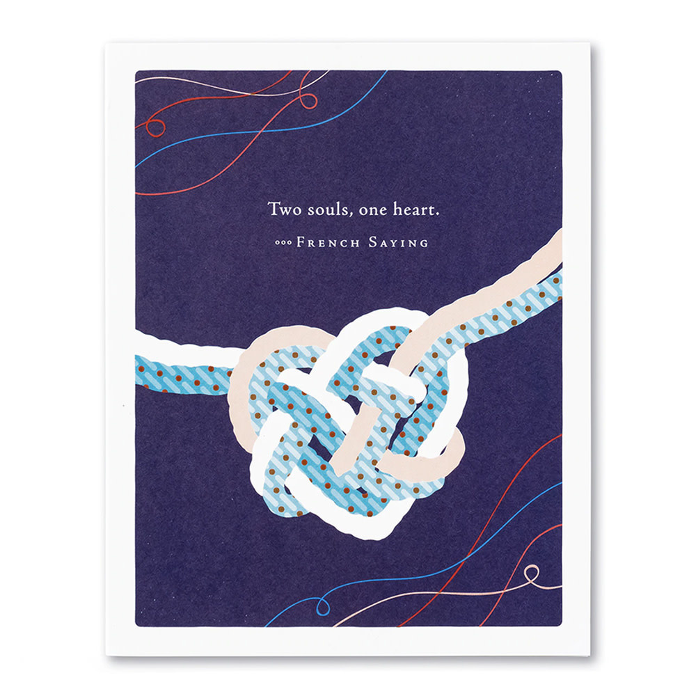 Compendium Wedding Card - Two Souls One Heart