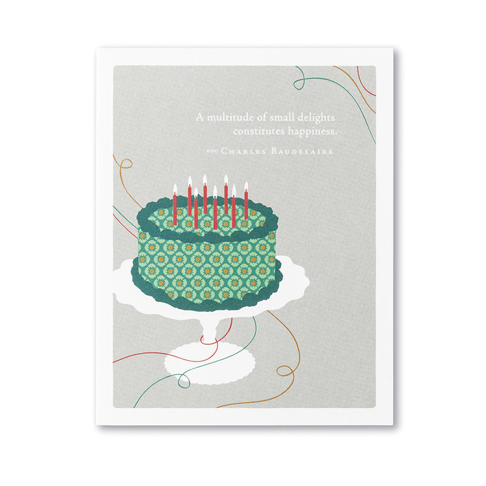 Compendium Birthday Card - A Multitude of Small...