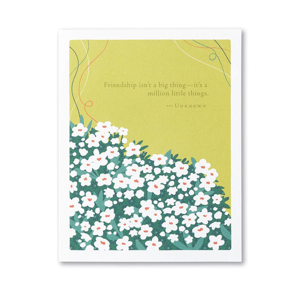 Compendium Love & Friendship Card - Friendship Isn't A Big Thing