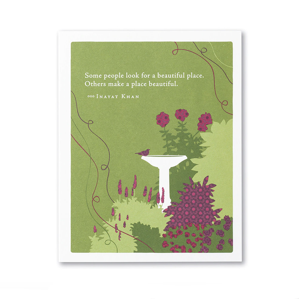 Thank You Card - Some people look for a beautiful place…