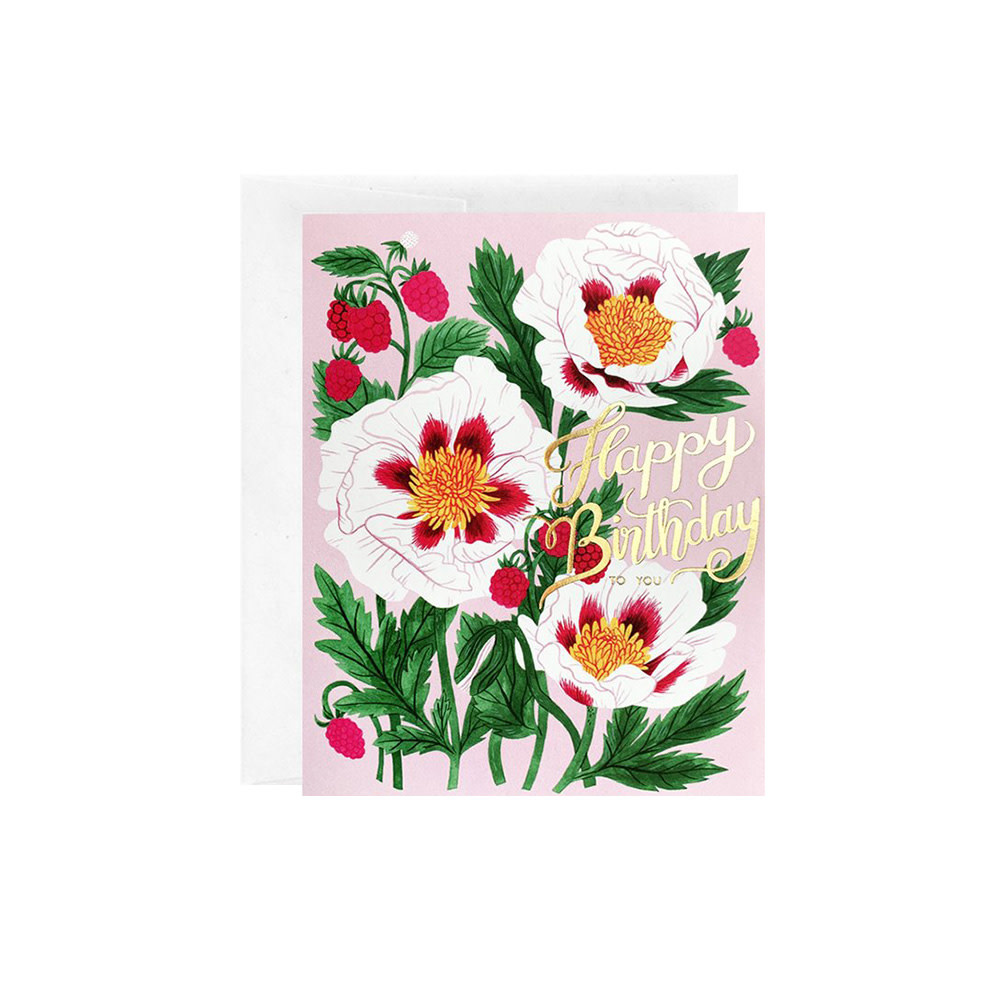 Oana Befort Oana Befort Card - White Poppy Birthday