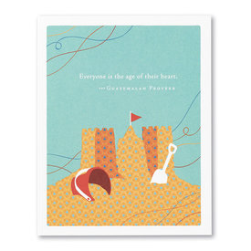 Compendium Birthday Card - Everyone is the Age of their Heart