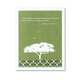 Compendium Birthday Card - A Possibility Was Born...