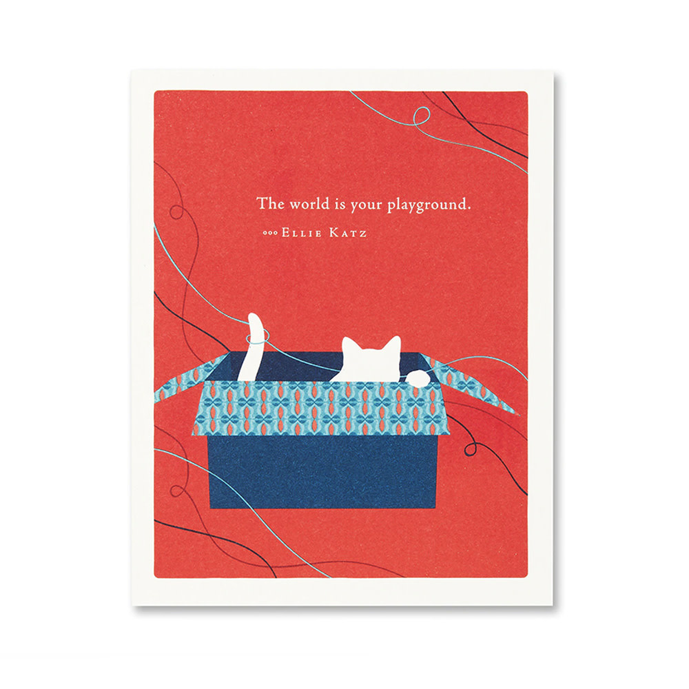 Cat Card - The World is Your Playground