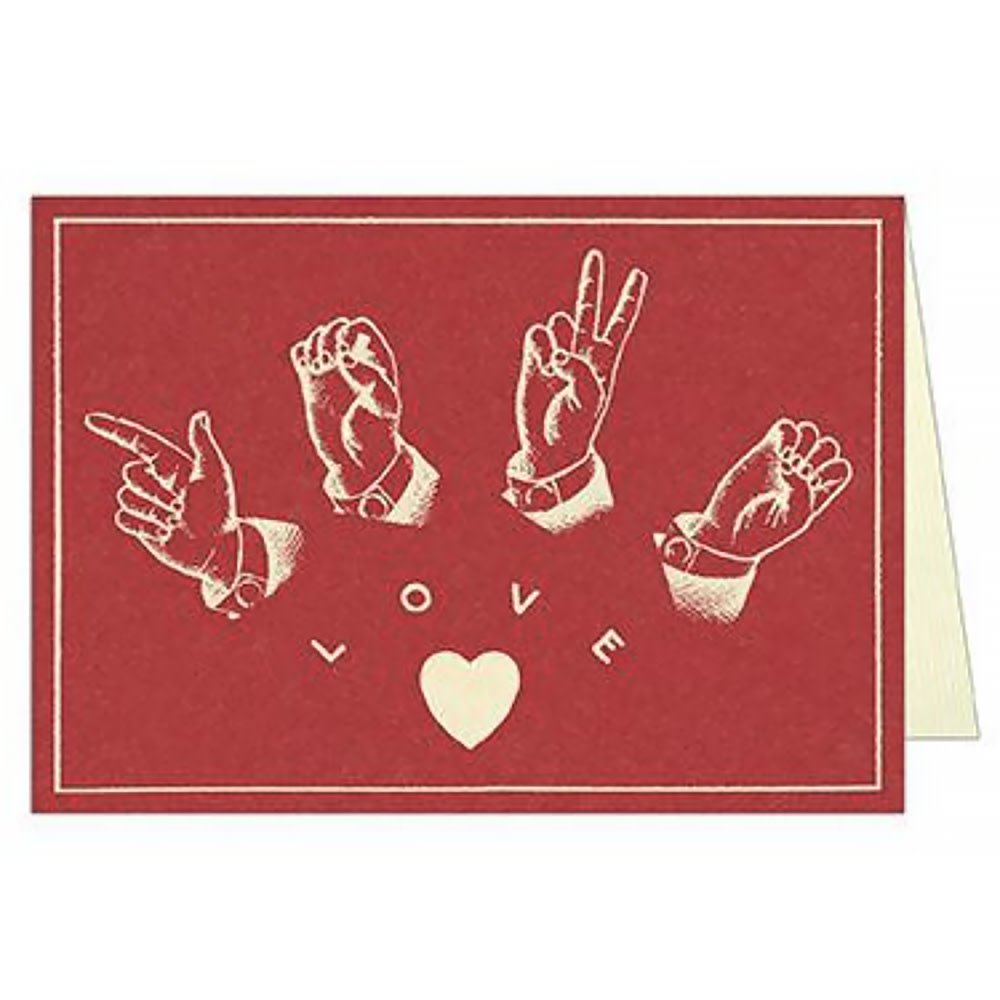 Cavallini Greeting Card - Sign Language