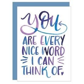 Katie Elizabeth Lettering + Design Katie Elizabeth Card - Every Nice Word