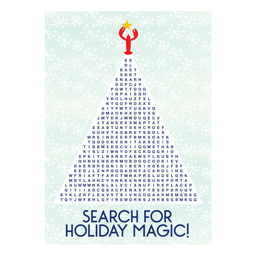 Daytrip Society Kennebunkport Holiday Magic Word Search Card