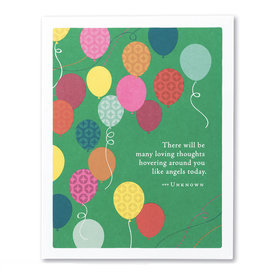 Compendium Birthday Card - There Will Be Many Loving Thoughts Hovering Around You