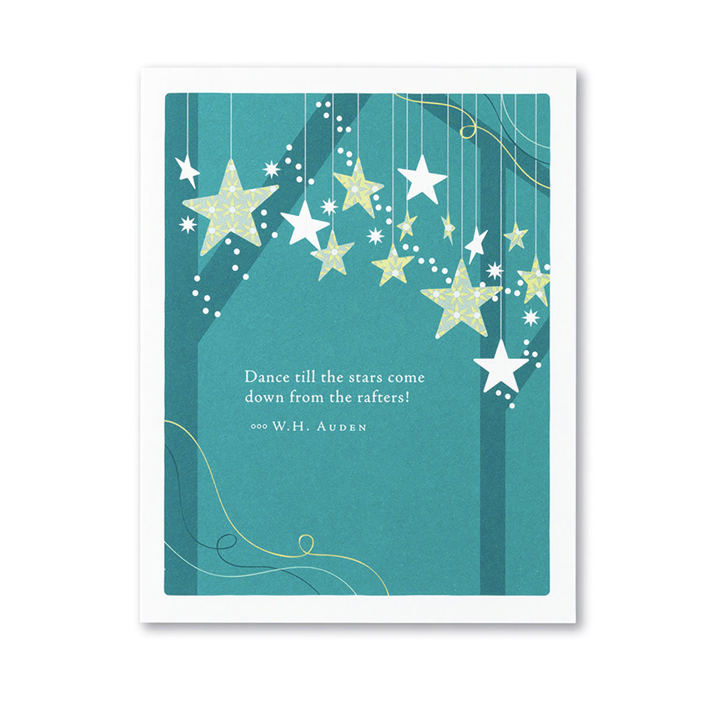 Stars Card - Dance till the stars come down from the rafters!