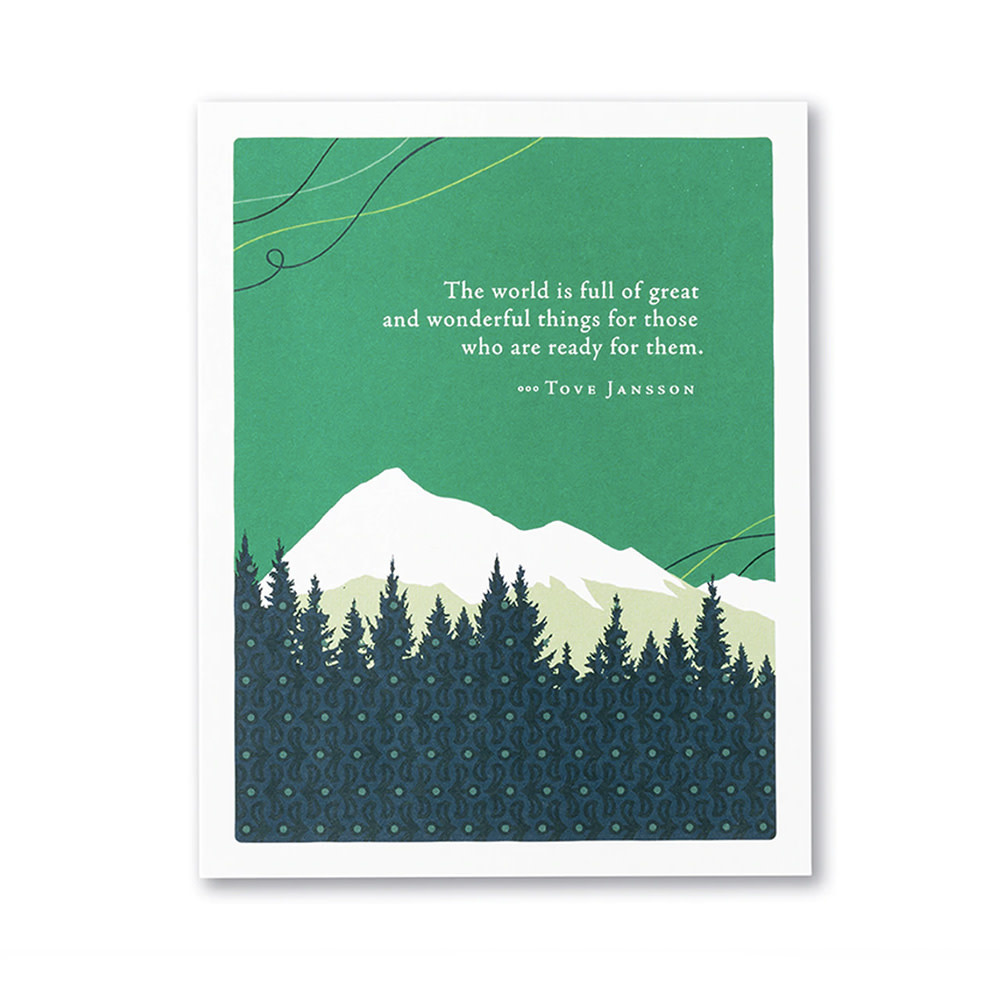 Compendium Mountains Card - The World is Full of Great and Wonderful Things