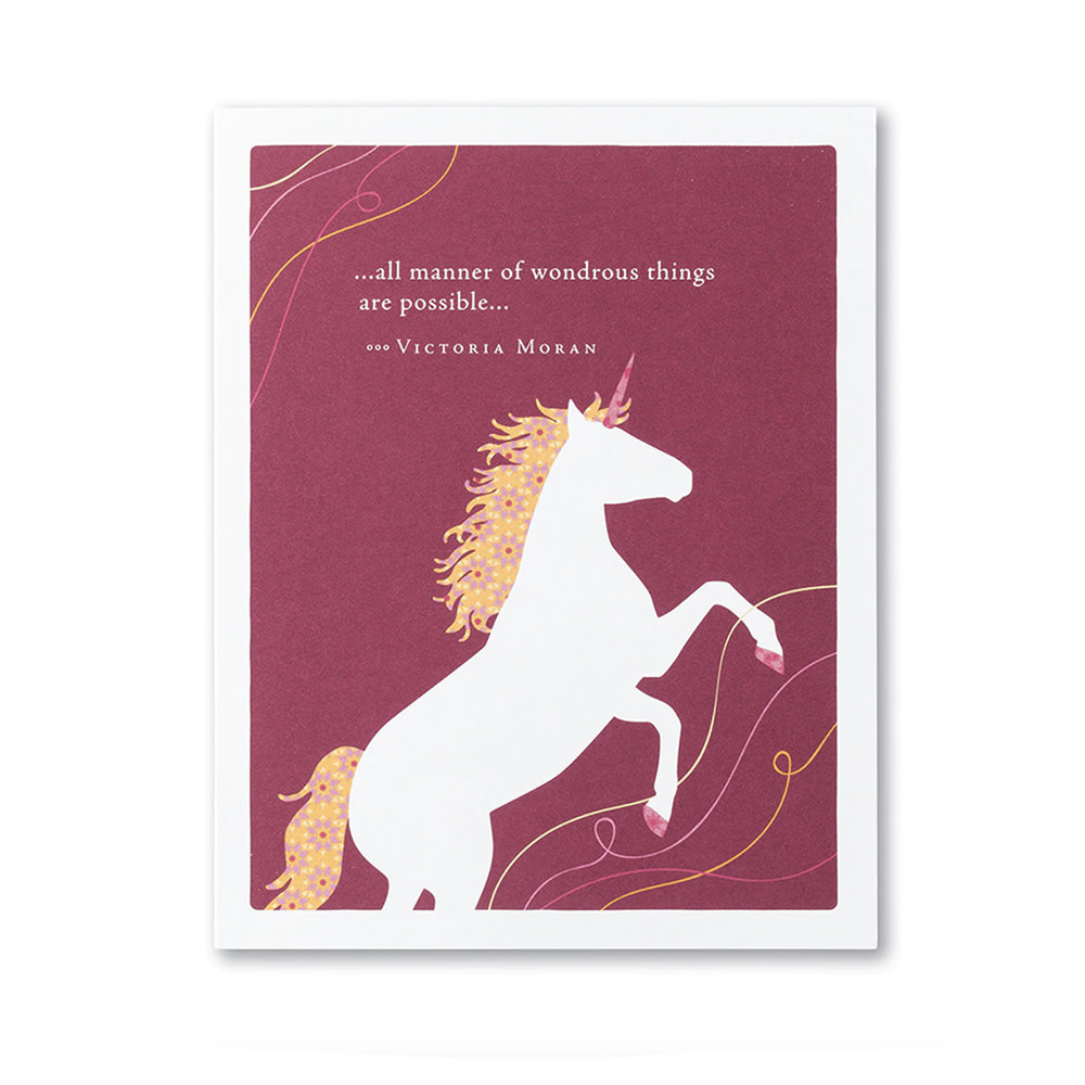 Compendium Unicorn Card - All Manner of Wonderous Things