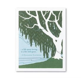 Compendium Sympathy Card - A Life Spent Loving...