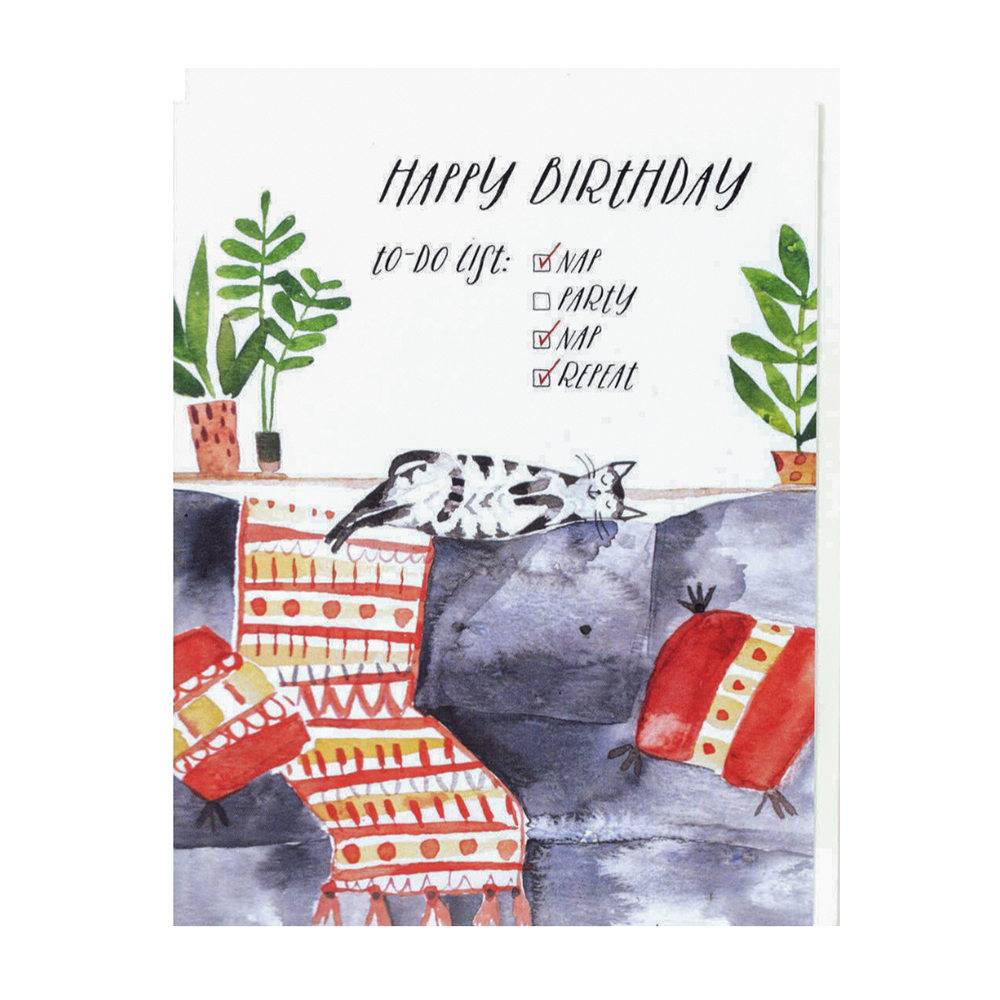 Loose Leaves Happy Birthday To Do List Card
