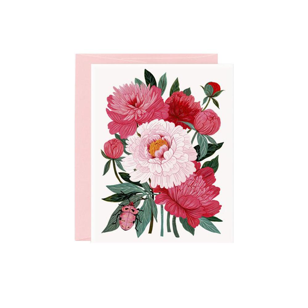 Oana Befort Card - Peonies