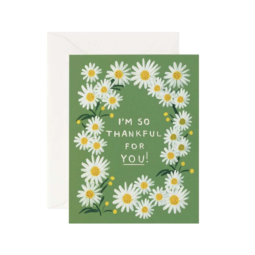 Rifle Paper Co. Card - Daisies Thankful For You