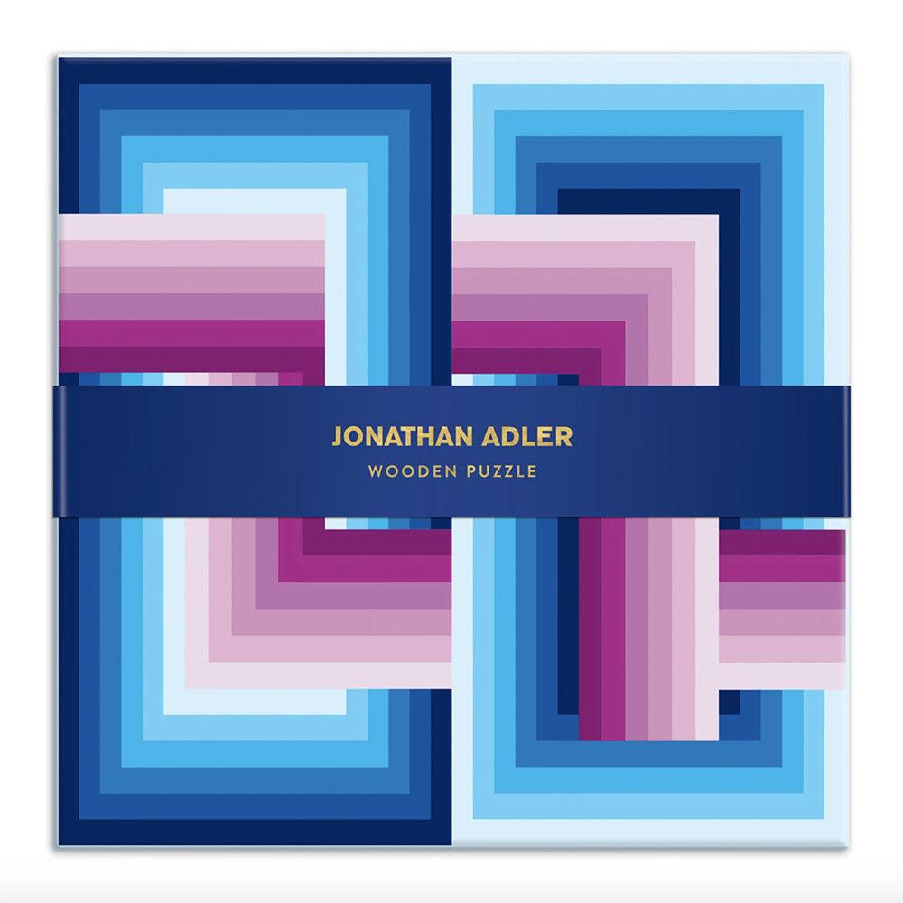 Galison Mudpuppy Jonathan Adler Infinity Wood Puzzle