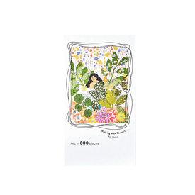 Jiggy Jiggy 800 Piece Jigsaw Puzzle - Bathing with Flowers Alja Horvat