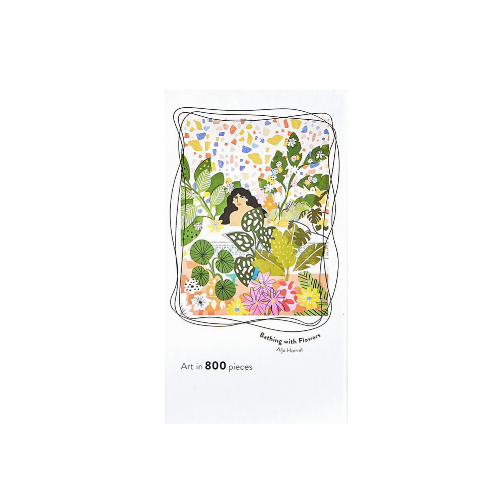 Jiggy Jiggy 800 Piece Jigsaw Puzzle - Bathing with Flowers Alja Horvat