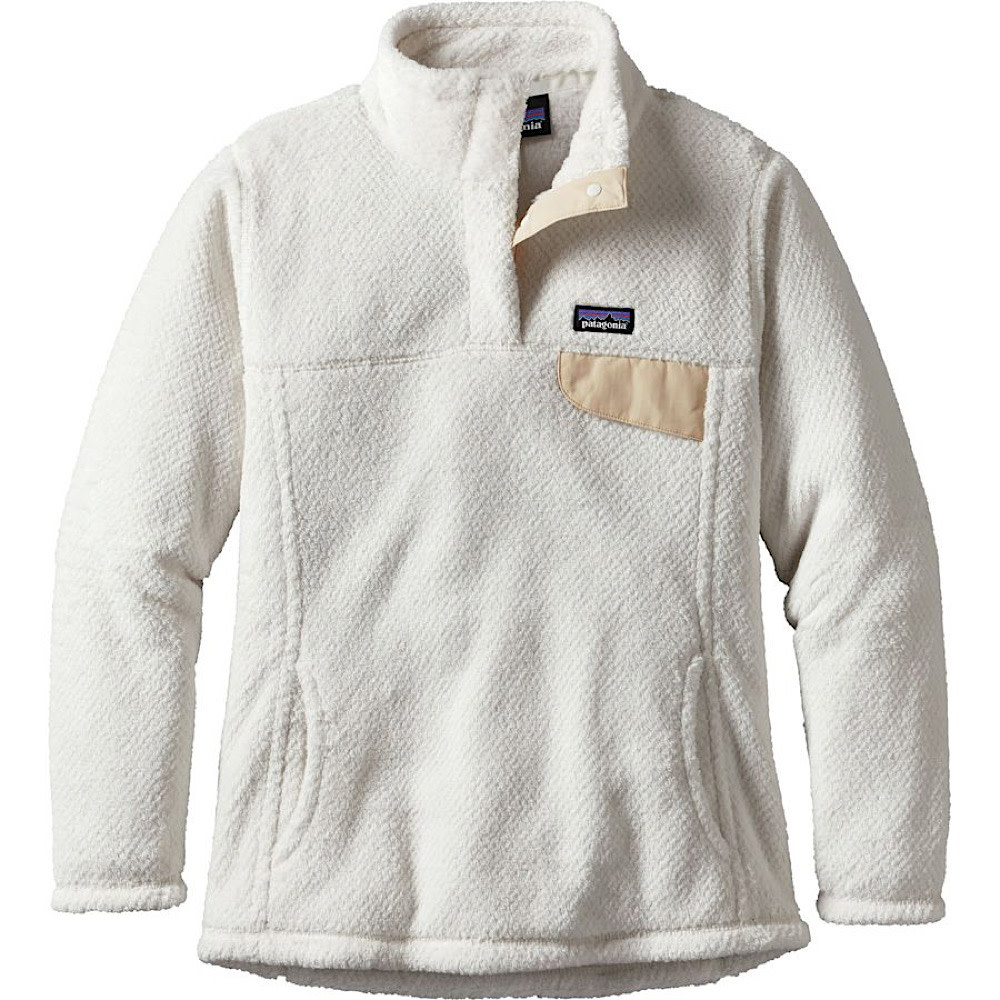 Patagonia Girls Re-Tool Snap-T Pullover - Raw Linen White X-Dye