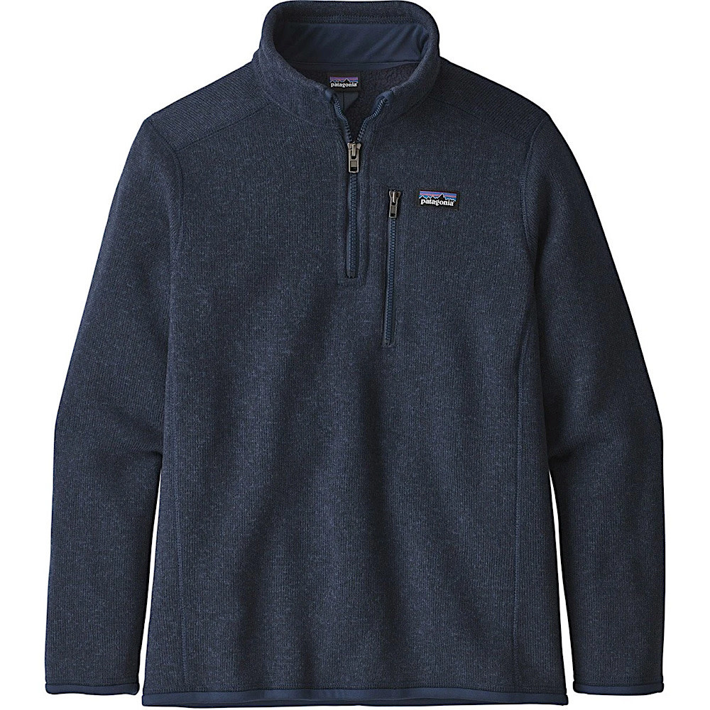 Patagonia Boys Better Sweater 1/4 Zip - New Navy