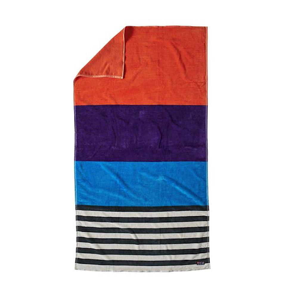 Patagonia Organic Cotton Towel - Fitz Stripe TWL Campfire Orange