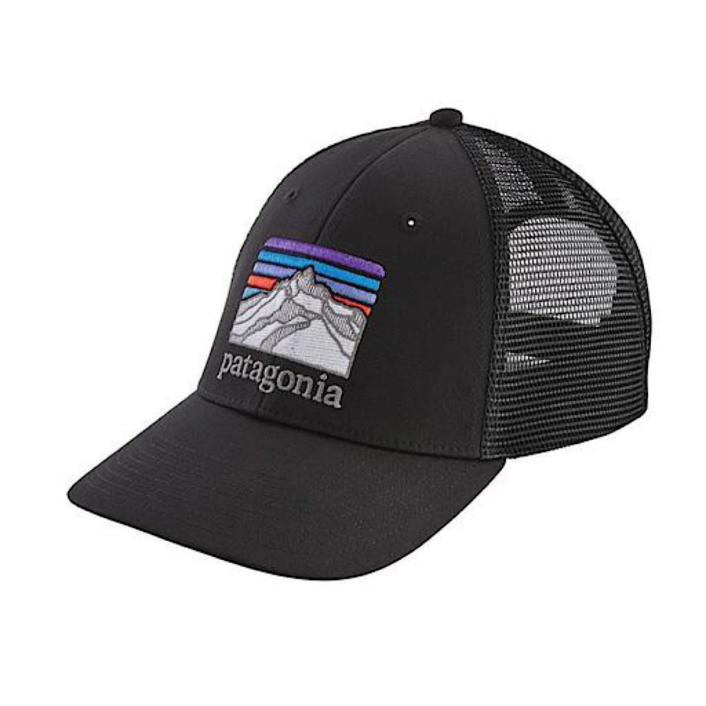 Patagonia Patagonia Trucker Hat LoPro - Line Logo Ridge - Black