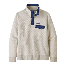 Patagonia Patagonia Womens Organic Cotton Quilt Snap-T Pullover - Pelican w/ Stone Blue