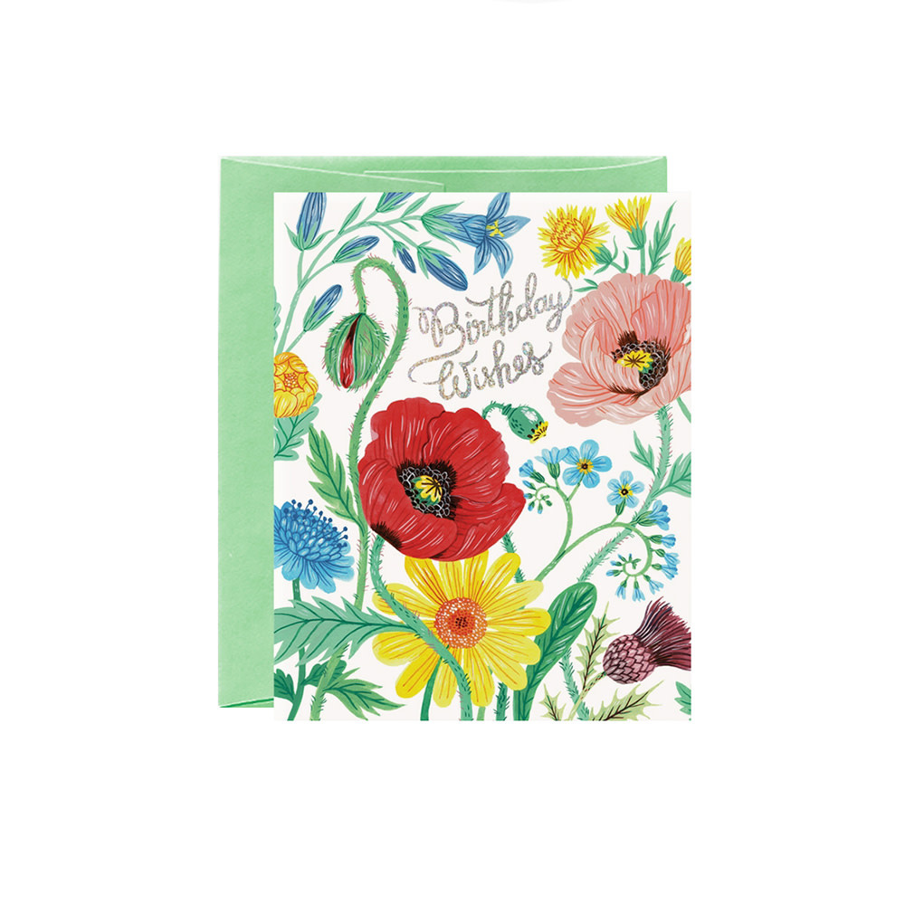 Oana Befort Card - Wild Flowers Birthday