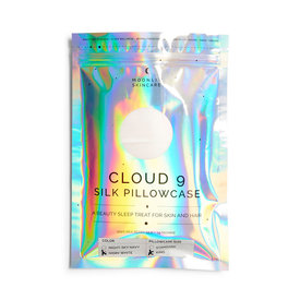 Moonlit Skincare Moonlit Skincare Cloud 9 Silk Pillowcase - King - Ivory White