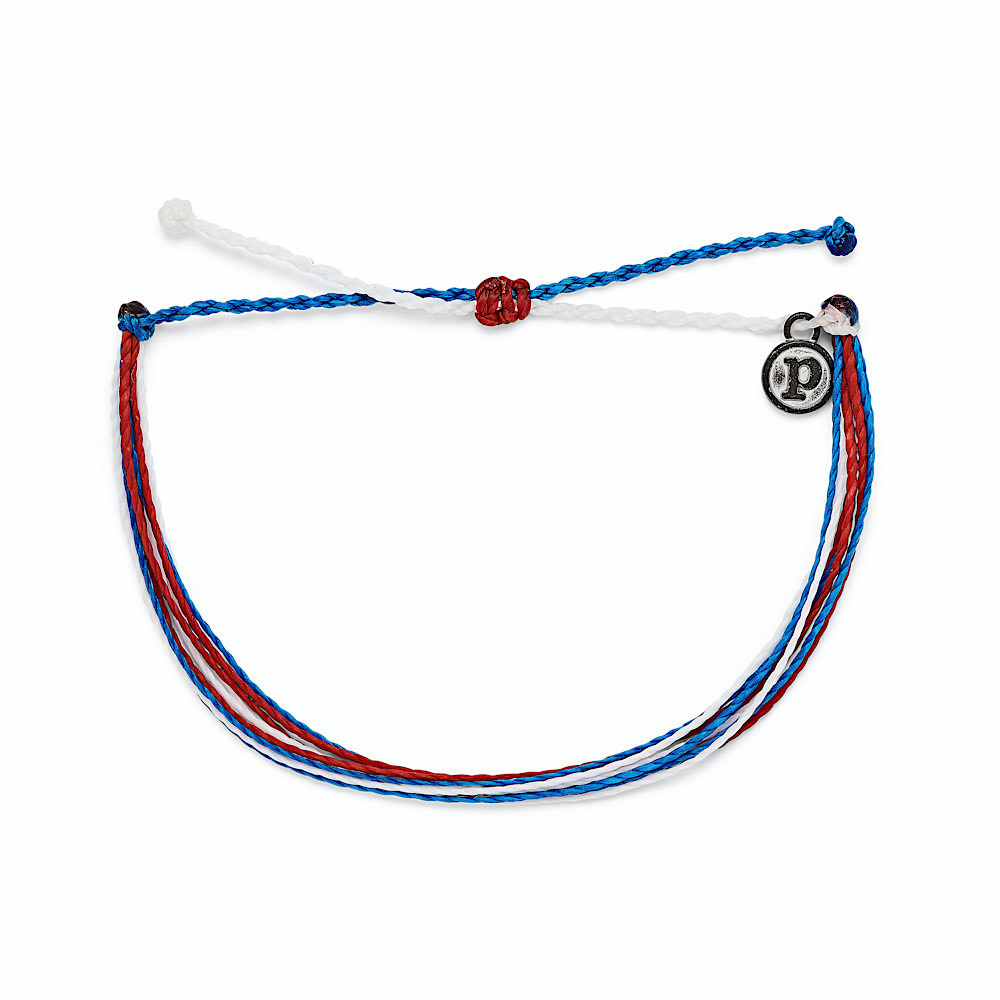 Pura Vida Original Bracelet - Bright Red White Blue