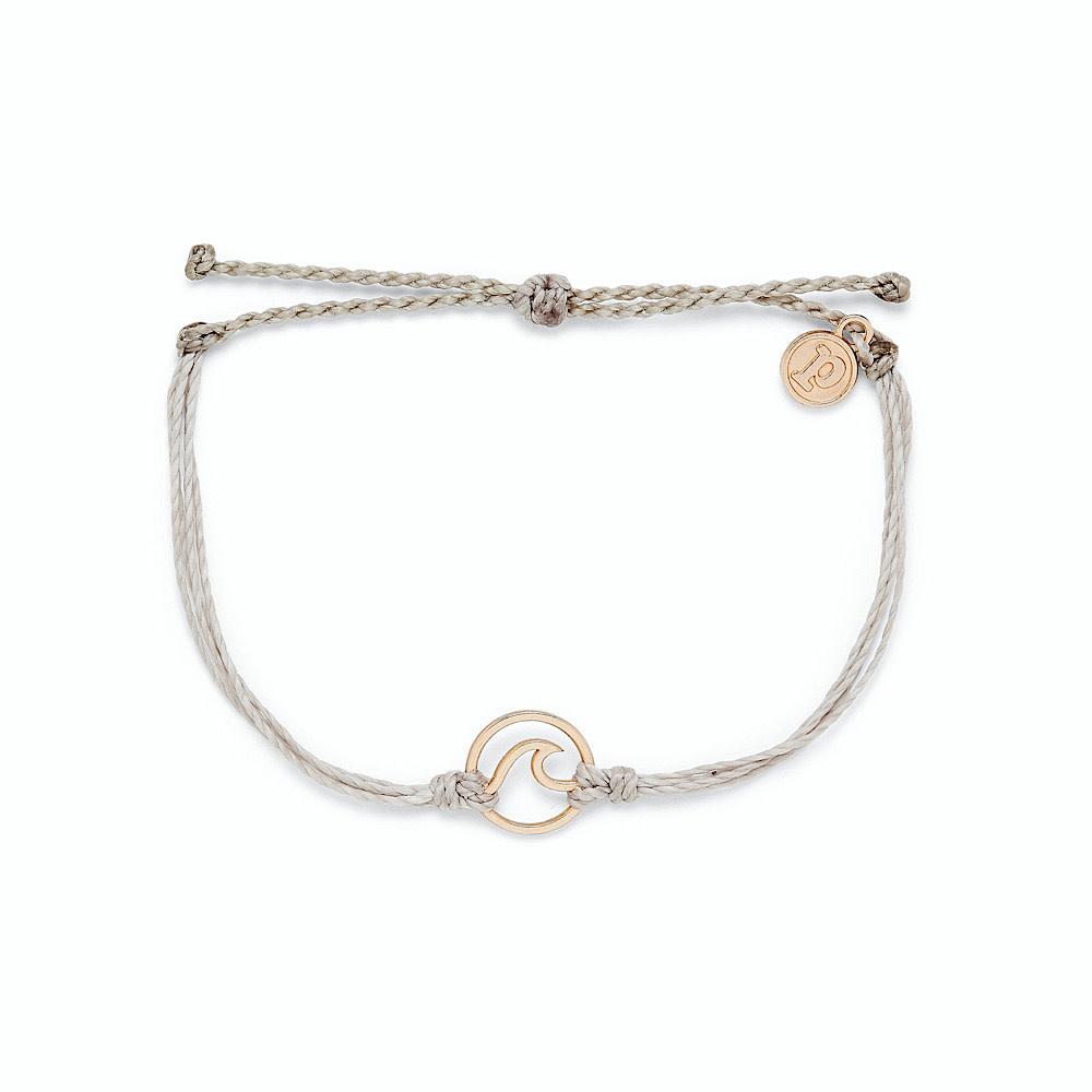 Pura Vida Wave Bracelet - Rose Gold/Light Grey