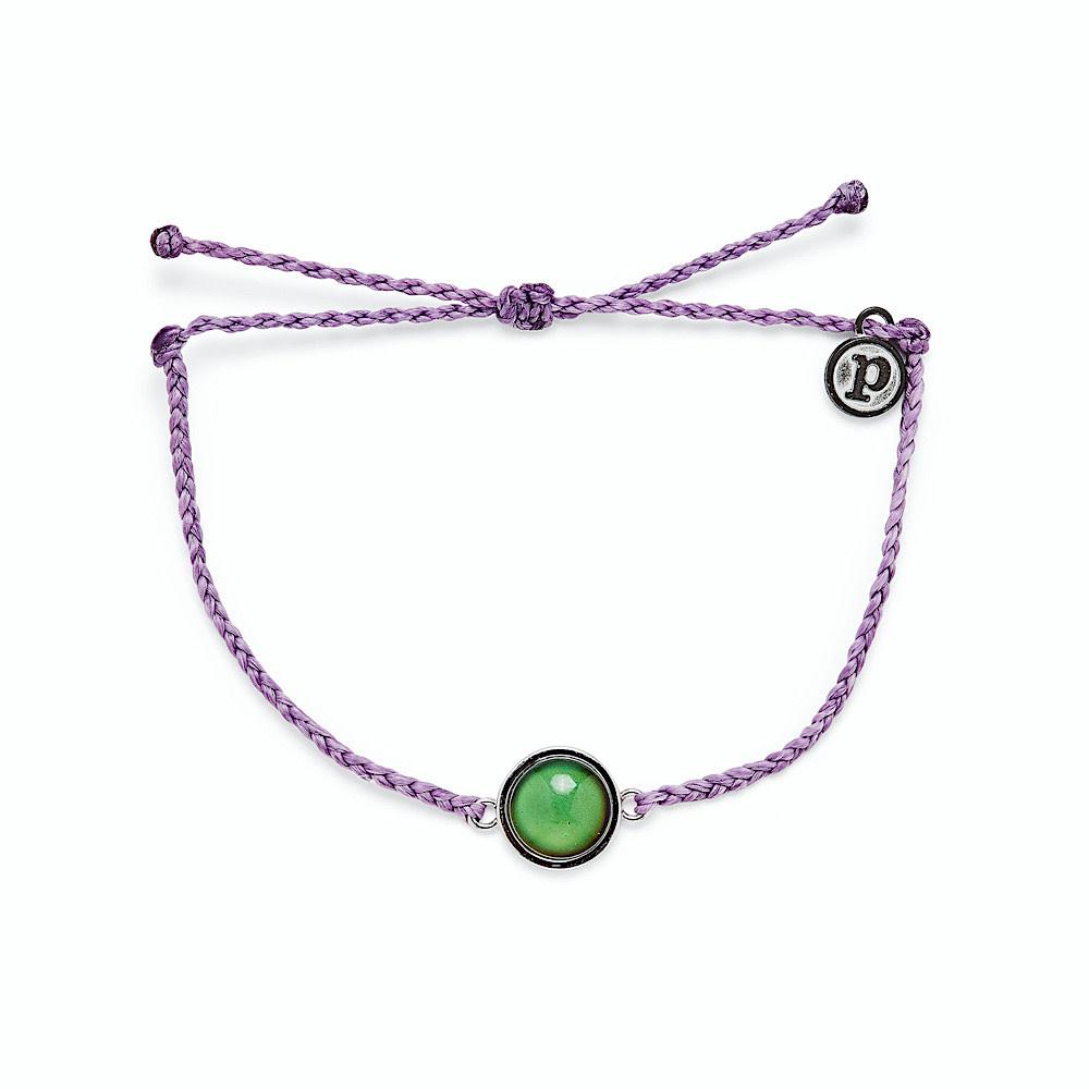 Pura Vida Pura Vida Bracelet - Mood Charm - Light Purple/Silver