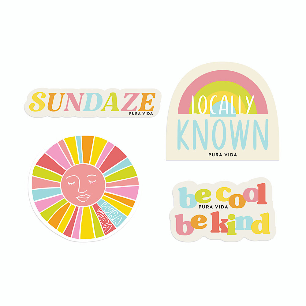 Pura Vida Pura Vida Sticker Set - Brightside