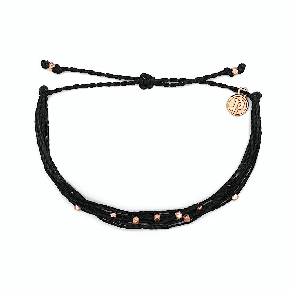 Pura Vida Bracelet Malibu - Rose Gold/Black