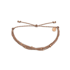Pura Vida Pura Vida Bracelet Malibu - Rose Gold/Sandlewood