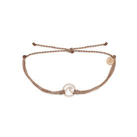 Pura Vida Pura Vida Wave Bracelet - Rose Gold/Sandlewood