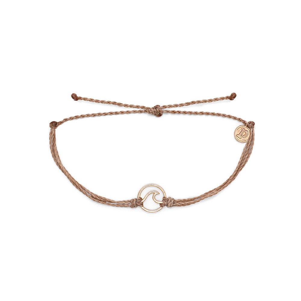 Pura Vida Wave Bracelet - Rose Gold/Sandlewood