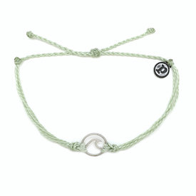 Pura Vida Pura Vida Wave Bracelet - Silver/Minty Green