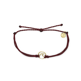 Pura Vida Pura Vida Wave Bracelet - Gold/Merlot