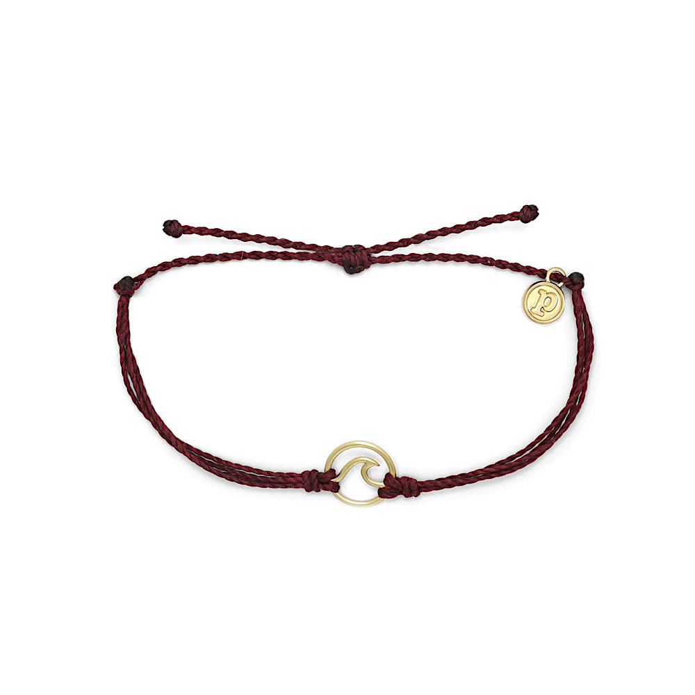 Pura Vida Wave Bracelet - Gold/Merlot