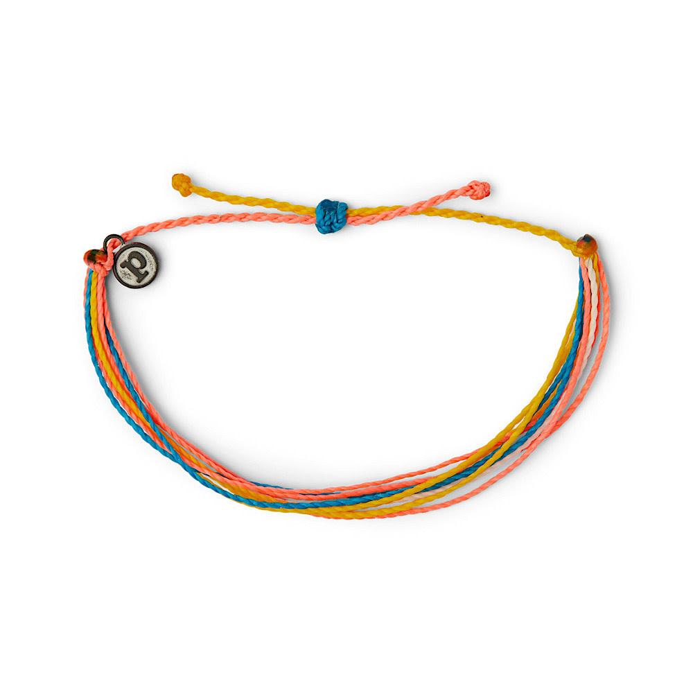 Pura Vida Original Bracelet - Classic Multi Neon Popsicle