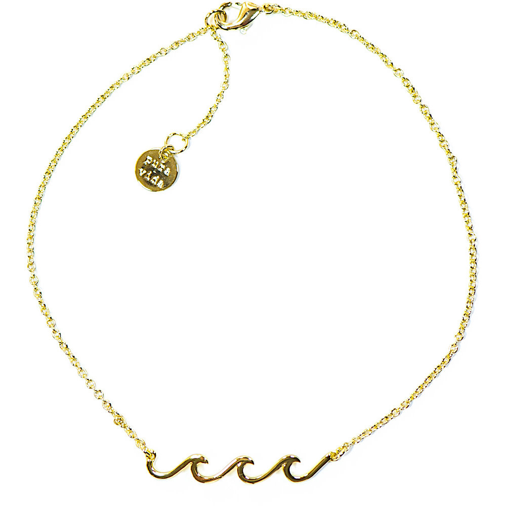 Pura Vida Delicate Wave Anklet - Gold