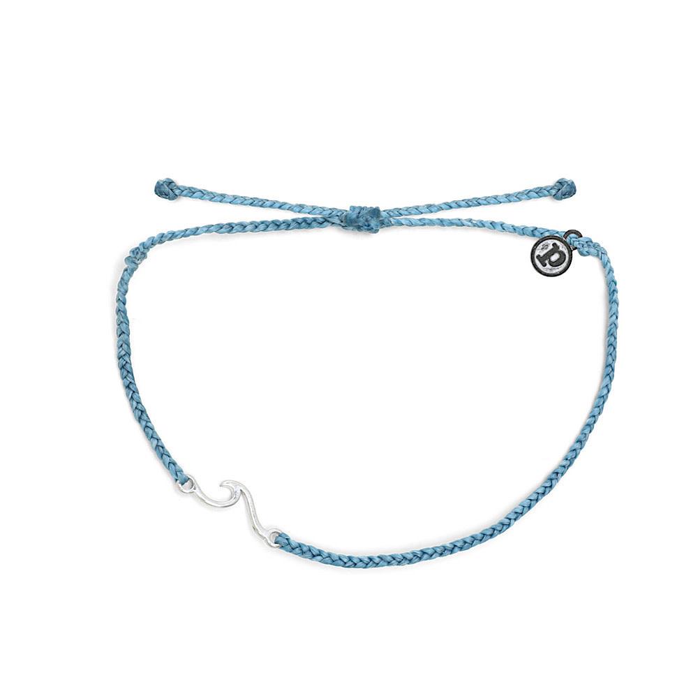 Pura Vida Shoreline Anklet - Silver/Sky Blue