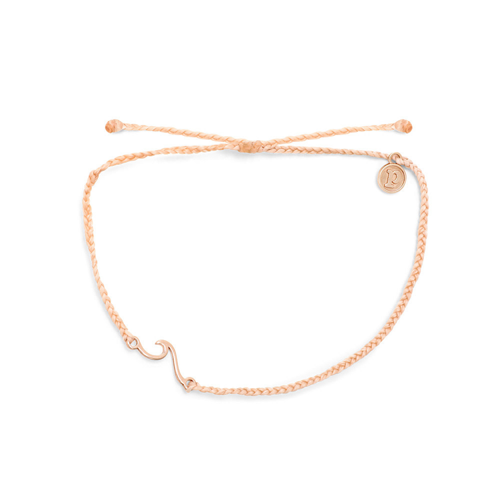 Pura Vida Shoreline Anklet - Rose Gold/Blush