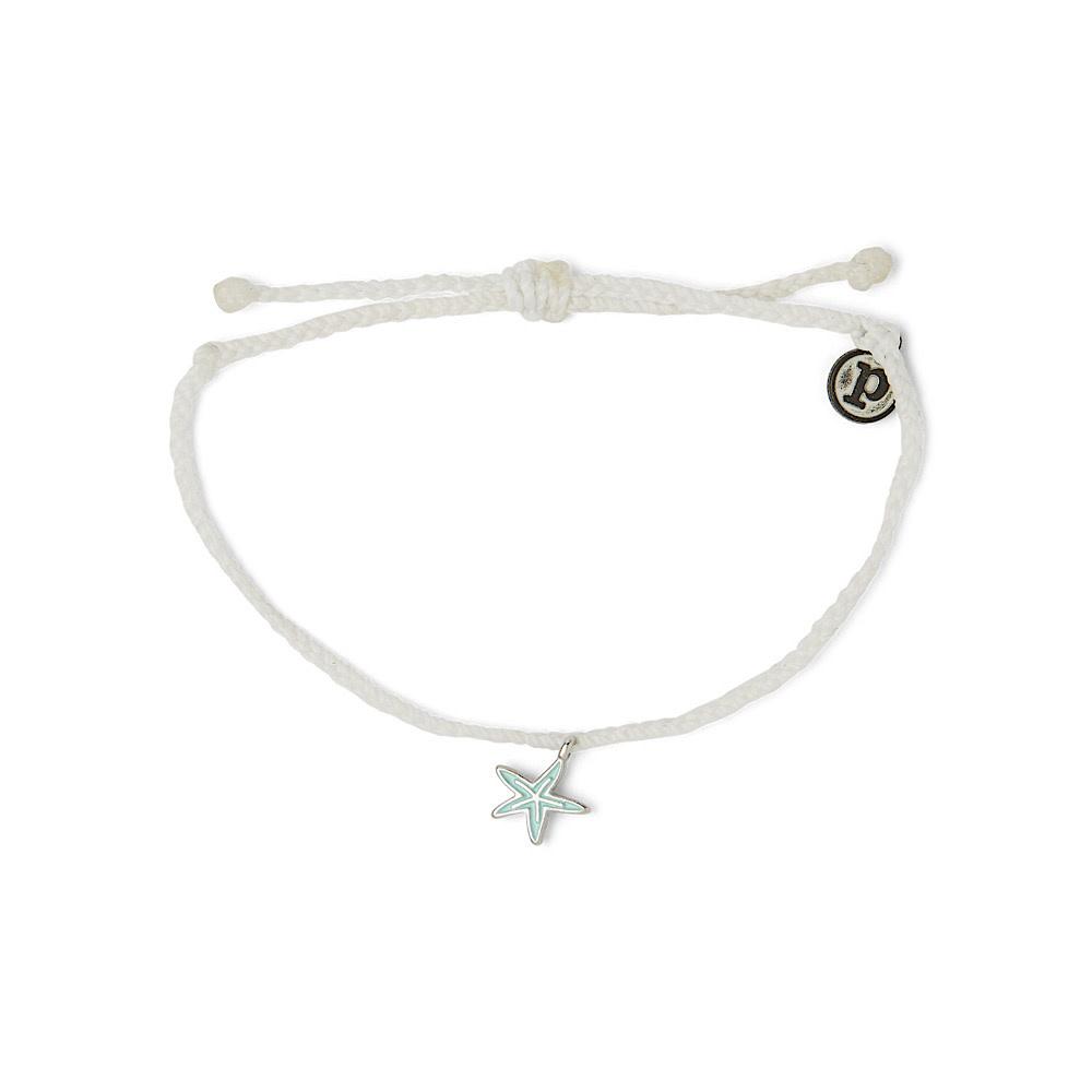 Pura Vida Charm Bracelet Silver Starfish/White