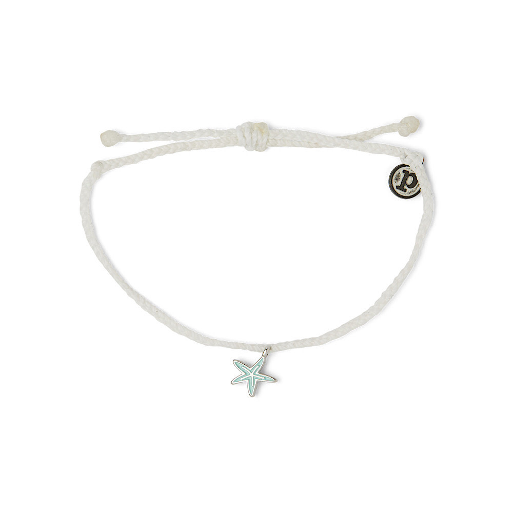 Pura Vida Pura Vida Charm Bracelet Silver Starfish/White