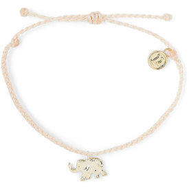 Pura Vida Pura Vida Charm Bracelet Gold Elephant/Vanilla